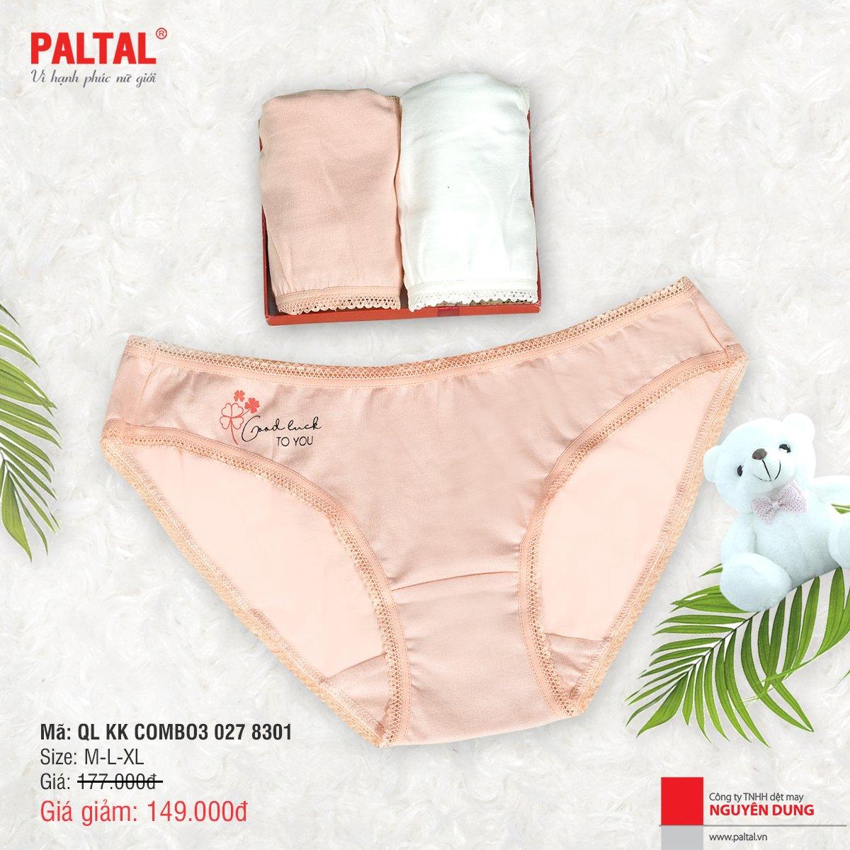 Combo 3 quần lót kháng khuẩn cao cấp paltal ql 027p 8301