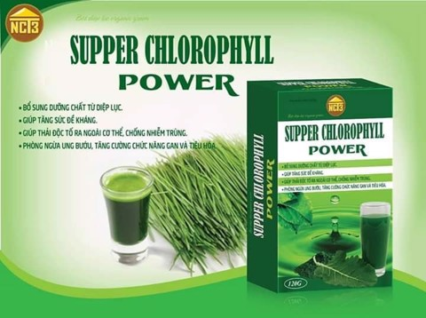 Bột diệp lục Organic Green Supper Chlorophyll Power