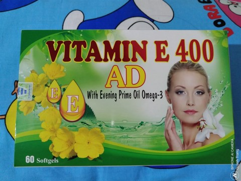Vitamin E 400 AD with Evening Prime Oil Omega 3 - Hộp 60 viên