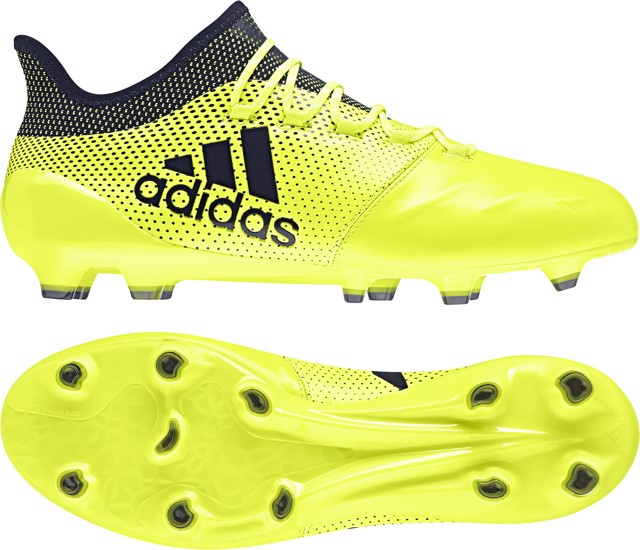 ADIDAS X 17.1 FG LEATHER OCEAN STORM - SOLAR YELLOW/LEGEND INK