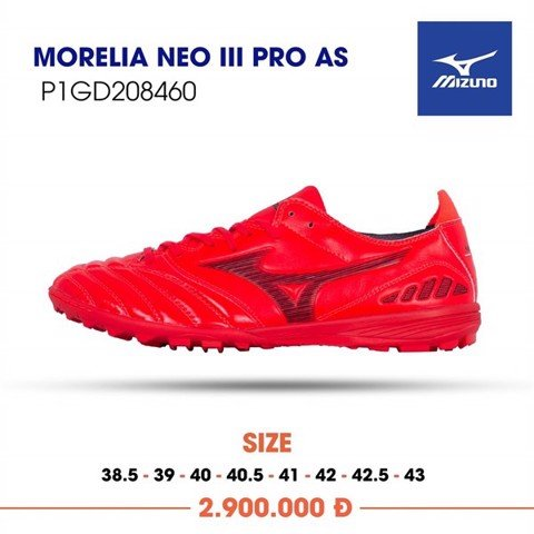 MIZUNO MORELIA NEO III PRO AS TF - IGNITION RED/BLACK
