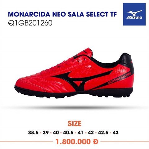 MIZUNO MONARCIDA NEO SALA SELECT TF -IGNITION RED/BLACK