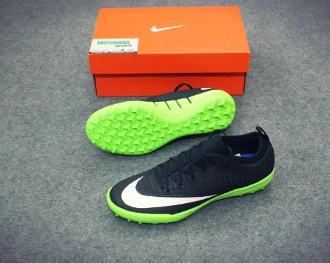 NIKE MERCURIALX FINALE TF BLACK/WHITE/ELECTRIC GREEN