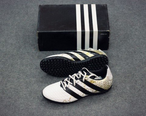 ADIDAS ACE 16.3 TF WHITE/CORE BLACK/ GOLD METALLIC