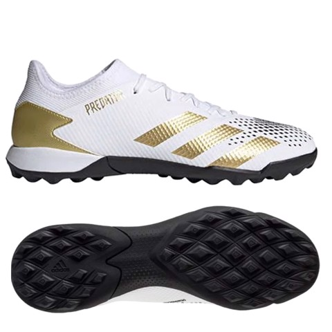 Adidas Predator 20.3 Low TF Inflight - Footwear White/Gold Metallic/Core Black