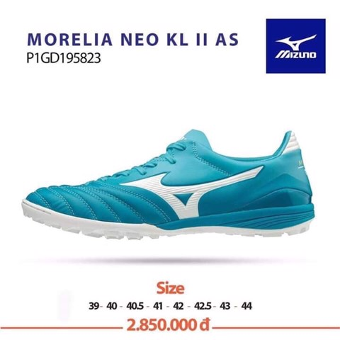 MIZUNO MORELIA NEO KL II AS TF BLUE/WHITE
