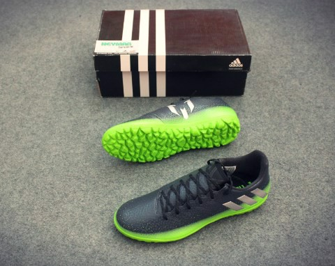 ADIDAS MESSI 16.3 TF BLACK/BLACK/GREEN