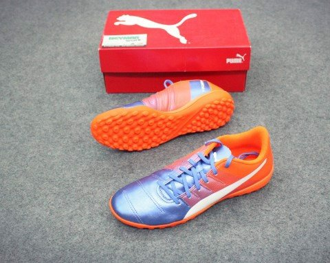 PUMA evoPOWER 4.3 TF - Blue Yonder-Puma White-Shocking Orange