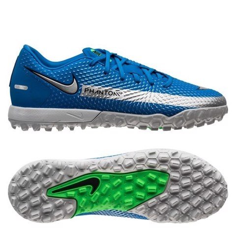 Nike Phantom GT Academy TF Spectrum - Photo Blue/Metallic Silver/Rage Green