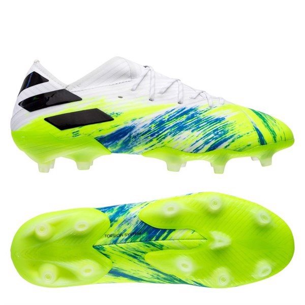 Adidas Nemeziz 19.1 FG/AG Uniforia - Footwear White/Core Black/Signal Green