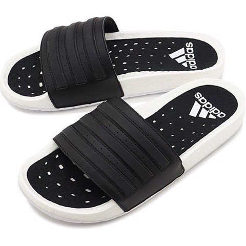 ADIDAS ADILETTE BOOST SLIDES BLACK/WHITE BLACK