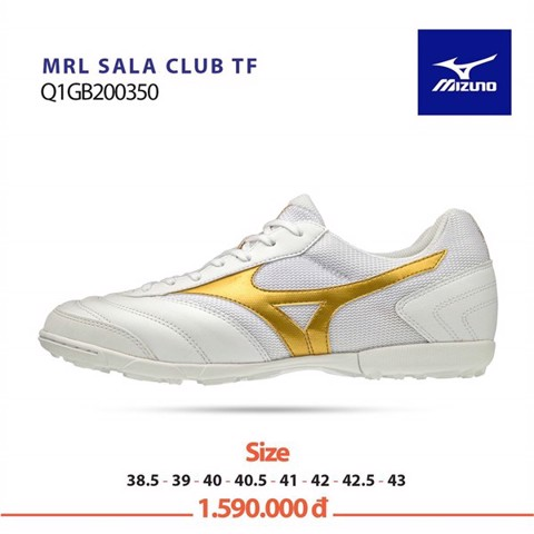 MIZUNO MORELIA SALA CLUB TF WHITE/GOLD