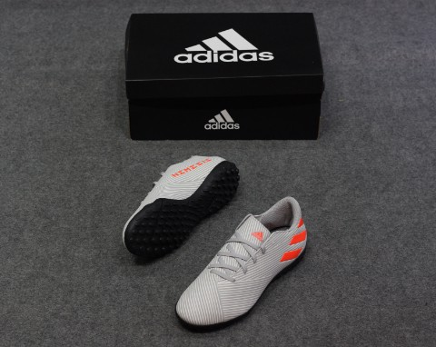 adidas Nemeziz 19.4 TF Encryption - Grey Two/Solar Orange/Core White