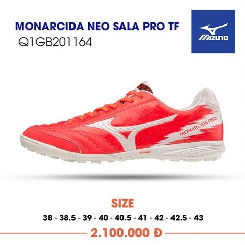 MIZUNO MONARCIDA NEO SALA PRO AS TF RED ORANGE/WHITE