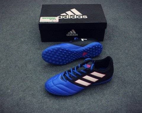 ADIDAS ACE 17.4 TF CORE BLACK/WHITE/BLUE