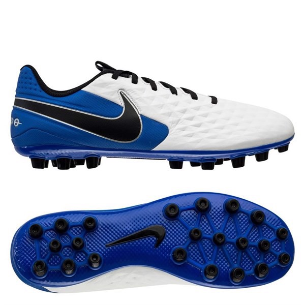 Nike Tiempo Legend 8 Academy AG Daybreak - White/Black/Hyper Royal/Metallic Silver