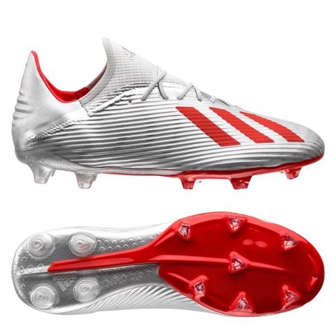 adidas X 19.2 FG/AG 302 Redirect - Silver Metallic/High Risk Red