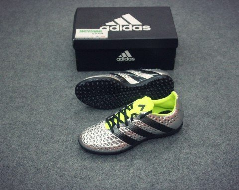 ADIDAS ACE 16.3 TF SILVER METALLIC/CORE BLACK/SOLAR YELLOW