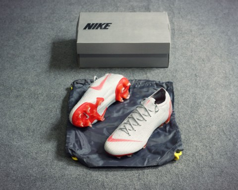 Nike Mercurial Vapor 12 Elite FG Raised On Concrete - Wolf Grey/Light Crimson