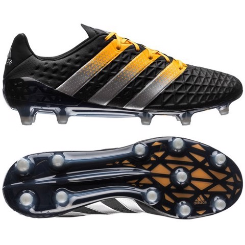adidas ACE 16.1 FG/AG Core Black/Silver Metallic/Solar Gold