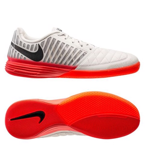 Nike Lunargato II IC - Platinum/Black/Bright Crimson