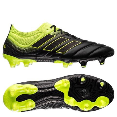 adidas Copa 19.1 FG/AG Exhibit - Core Black/Solar Yellow