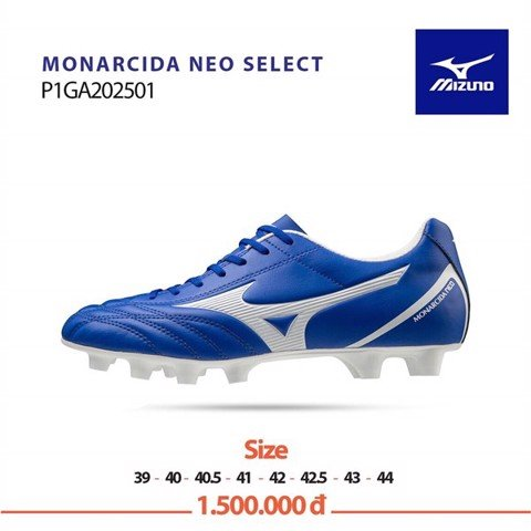Mizuno Monarcida Neo Select FG - Blue/White