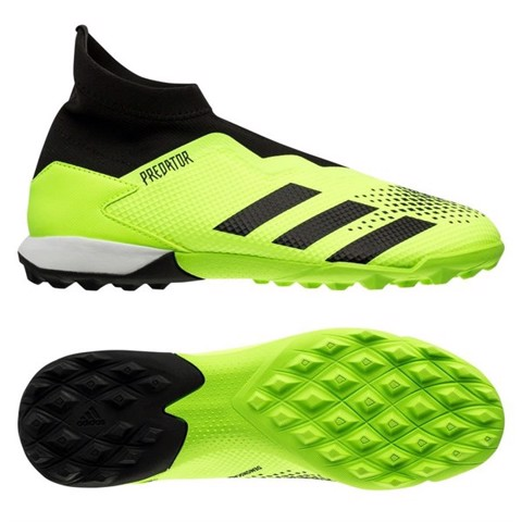 adidas Predator 20.3 Laceless TF Precision To Blur - Signal Green/Core Black/Footwear White