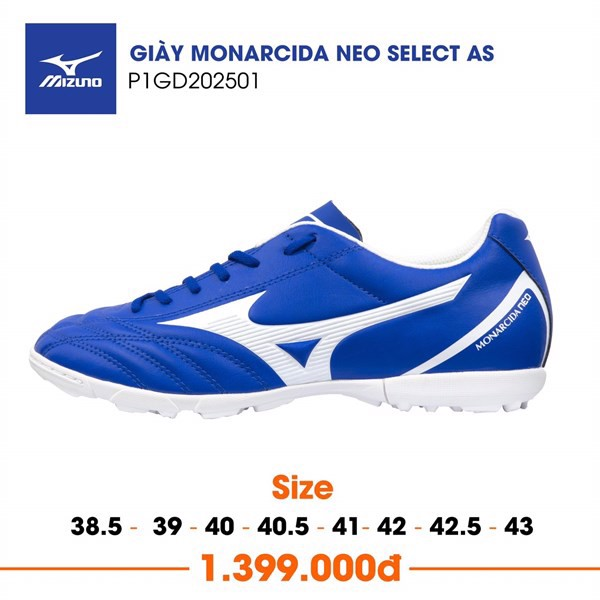 MIZUNO MONARCIDA NEO SELECT AS TF BLUE/WHITE