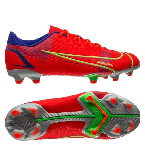Nike Mercurial Vapor 14 Academy MG Spectrum - Bright Crimson/Metallic Silver Kids