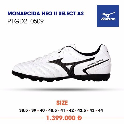 MIZUNO MONARCIDA NEO II SELECT AS TF WHITE/BLACK
