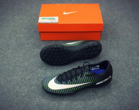 NIKE MERCURIAL VICTORY VI TF BLACK/WHITE/ELECTRIC GREEN