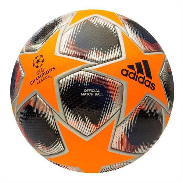 Adidas Football Champions League 2020 Pro Match Ball - Solar Orange/Royal Blue/Black