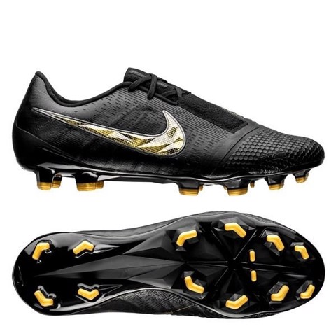 Nike Phantom Venom Elite FG Black Lux - Black/Metallic Vivid Gold