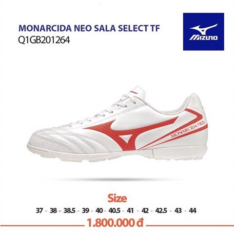 Mizuno Monarcida Neo Sala Select TF - White/Orange