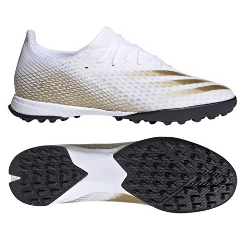 ADIDAS X GHOSTED .3 TF INFLIGHT - FOOTWEAR WHITE/CORE BLACK/METALLIC GOLD