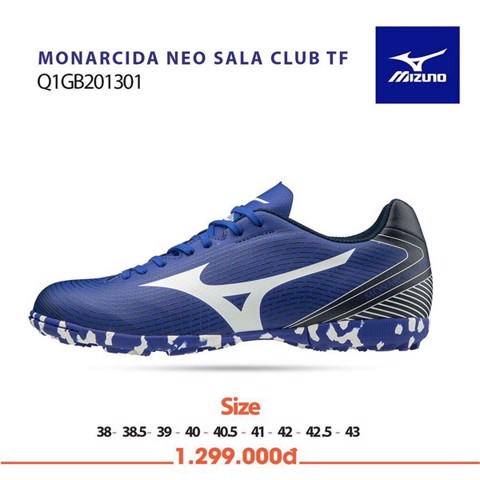 MIZUNO MONARCIDA NEO SALA CLUB TF BLUE/WHITE/BLACK