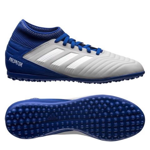 adidas Predator Tango 19.3 TF Virtuso - Grey Two/Footwear White/Bold Blue Kids