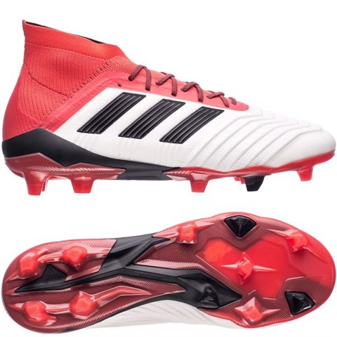 adidas Predator 18.1 FG/AG Cold Blooded - Footwear White/Core Black/Real Coral