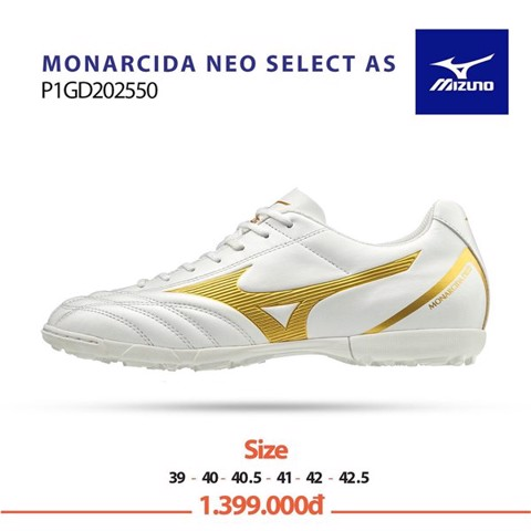 Mizuno Monarcida Neo Select AS TF White/Gold
