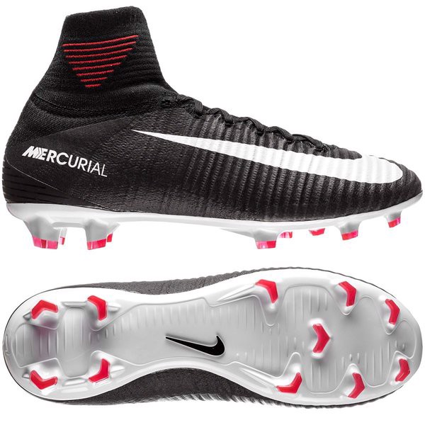 Nike Mercurial Superfly V FG Pitch Dark - Black/White/University Red