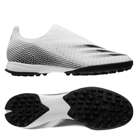 Adidas X Ghosted .3 Laceless TF Inflight - Footwear White/Core Black/Silver Metallic