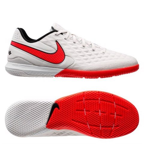 Nike Tiempo Legend 8 Pro IC - Platinum/Bright Crimson/White