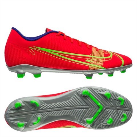 Nike Mercurial Vapor 14 Club MG Spectrum - Bright Crimson/Metallic Silver