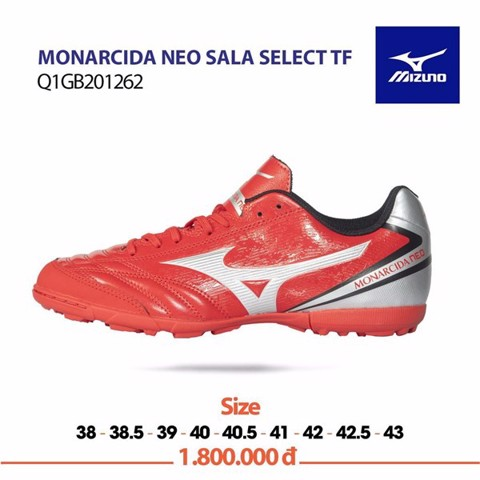 MIZUNO MONARCIDA SALA SELECT TF RED/WHITE