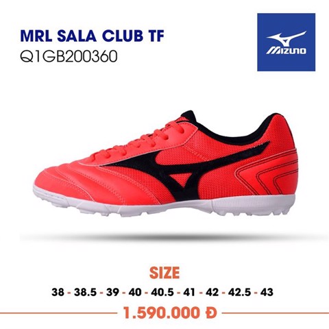 MIZUNO MORELIA SALA CLUB TF RED/BLACK