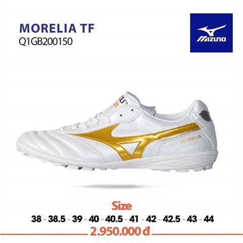 MIZUNO MORELIA TF WHITE/GOLD
