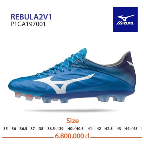 MIZUNO REBULA 2 V1 DAY&NIGHT PACK FG MADE IN JAPAN - BLUE/WHITE