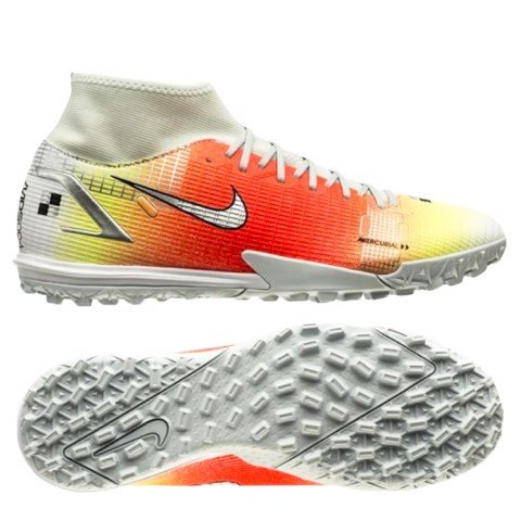 Nike Mercurial Superfly 8 Academy TF Dream Speed 4 - White/Bright Mango