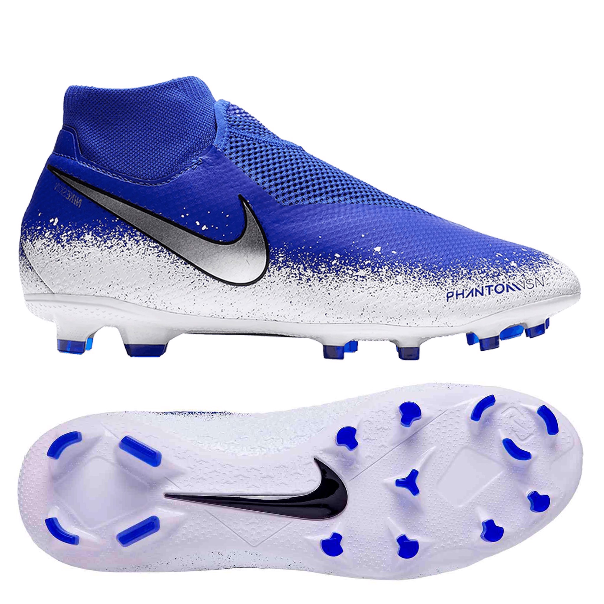 Nike Phantom Vision Pro FG EUPHORIA - Racer Blue White Chrome